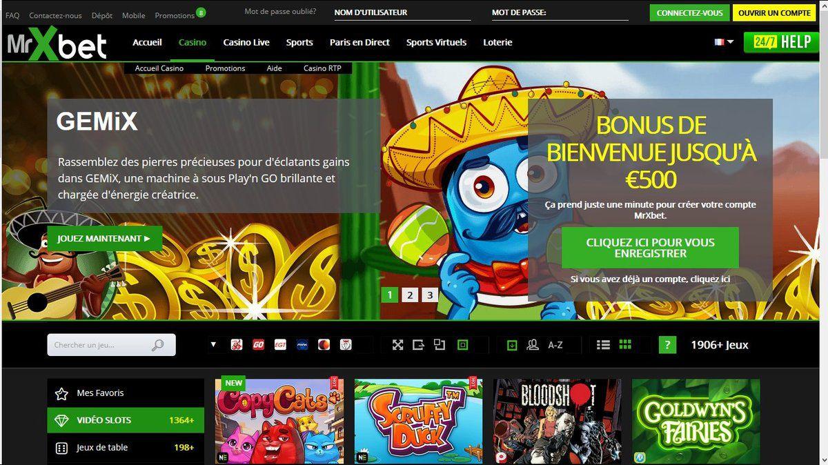 Avis sur le Casino Mr Xbet : un casino à tous les goûts